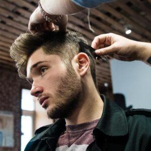 Corte de caballero y barbería